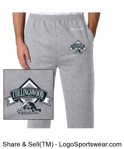 Champion Double Dry Eco Fleece Open Bottom Pant Design Zoom