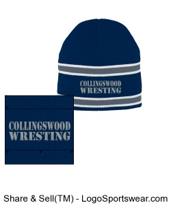 Striped Knit Beanie in Team Colors Design Zoom